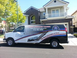 Legacy Carpet & Upholstery Cleaning Van
